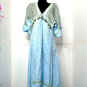 Greece Midi Dress Vyshyvanka by Sleeping Gypsy